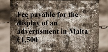 Malta | Fees for the display of adverts and business insignia