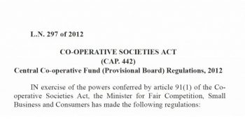 2016 – Central Co-operative Fund (Provisional Board) Regulations – revoked
