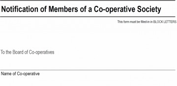 Form B – Co-operative Members submission 2016