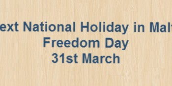 Next National Holiday – Freedom Day – 31st March