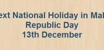Next National Holiday – Republic Day – 13th December