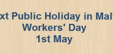 Next Public Holiday – Workers' Day – 1st May